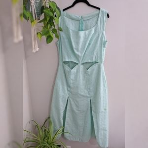 Vintage Eyelet Mint Green Dress